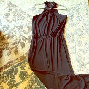 Verinica M black halter jumpsuit
